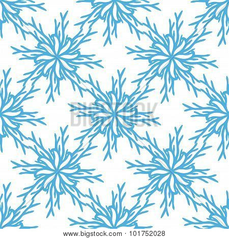 Christmas pattern. Snowflake seamless background. New year hand drawn decoration.