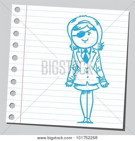 Businesswoman with eye patch