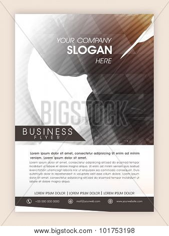 Creative professional flyer, template or banner with abstract design for your business or corporate sector.