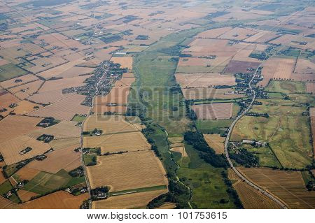 Aerial View Of Agriculture Landscape