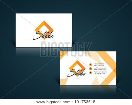 Stylish horizontal business card, name card or visiting card set with creative abstract design.