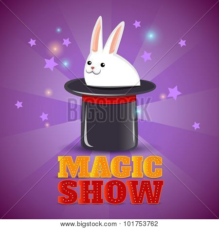 Magic hat trick show background poster