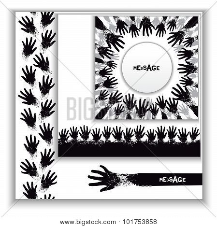 Thematic set of vector template