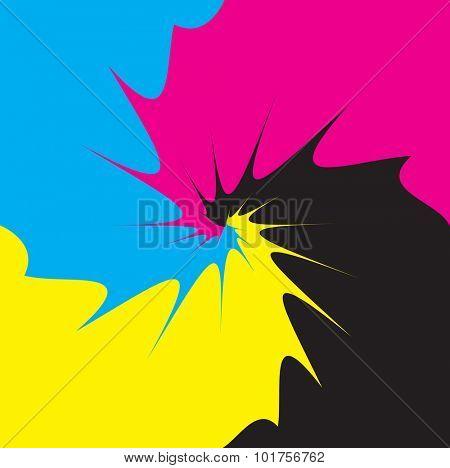 CMYK process mix as vector illustration