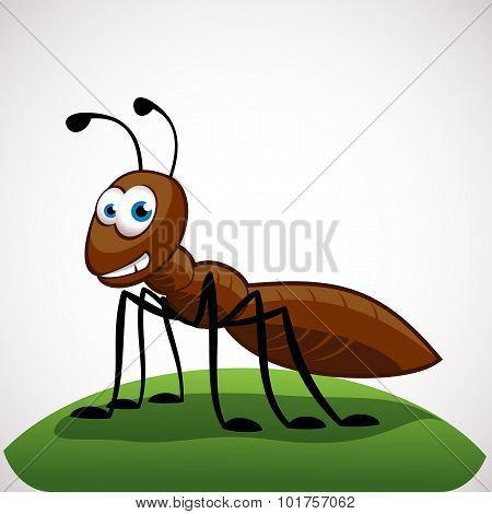 Funny Ant Cartoon Character