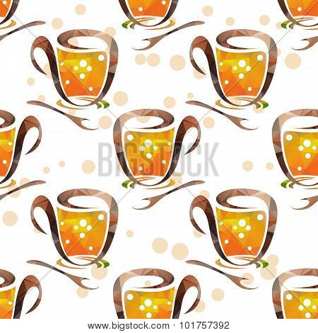 tea cups seamless pattern