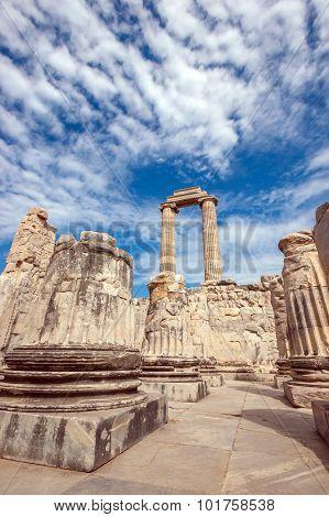 Columns In Temple Of Apollo