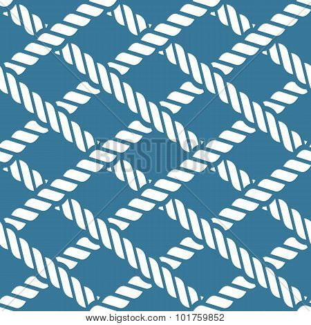 Seamless Nautical Rope Knot Pattern, Lattice