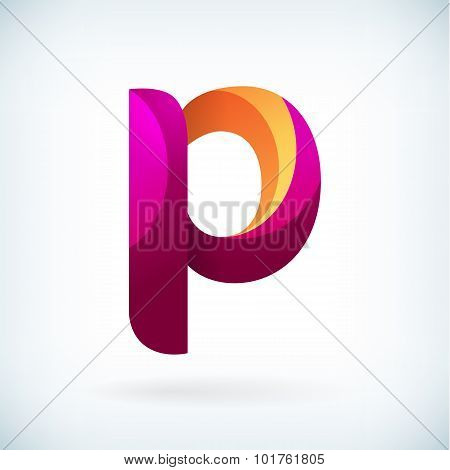 Modern Twisted Letter P