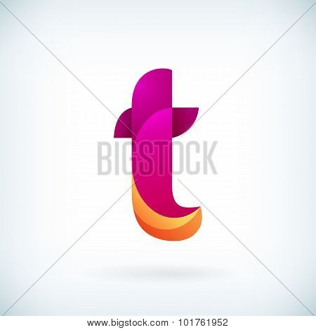 Modern Twisted Letter T