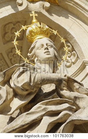 holy woman stone statue religion