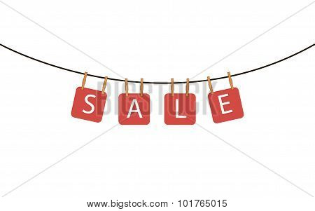 signboard with inscription sale