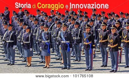 Deployment Of The Italian State Police