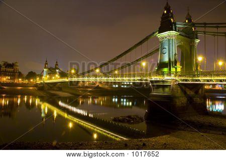 hammersmith bridge london united kingdom. river thames.