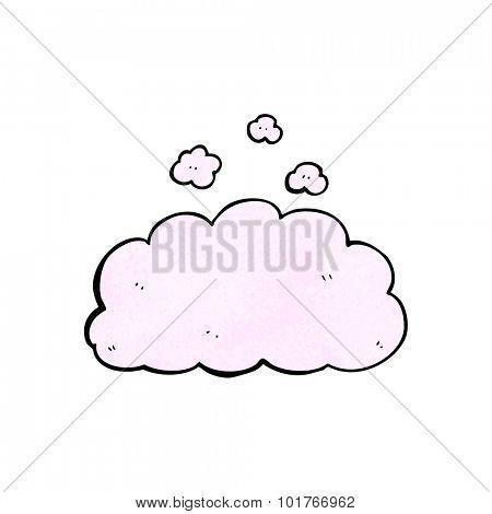 cartoon fluffy pink cloud