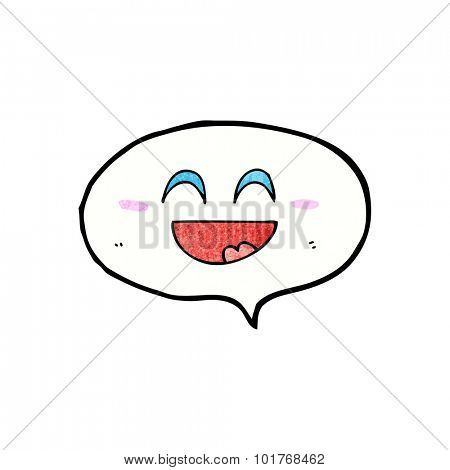 cute cartoon speech balloon