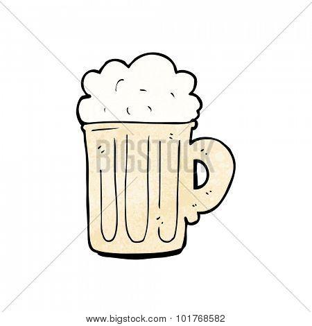 cartoon pint of beer