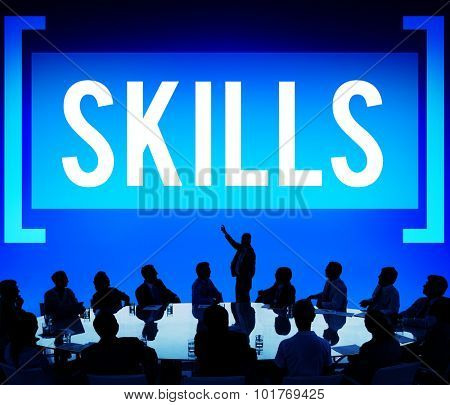 Skill Ability Qualification Performance Talent Concept