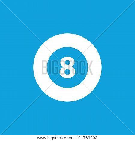 Eightball icon, simple
