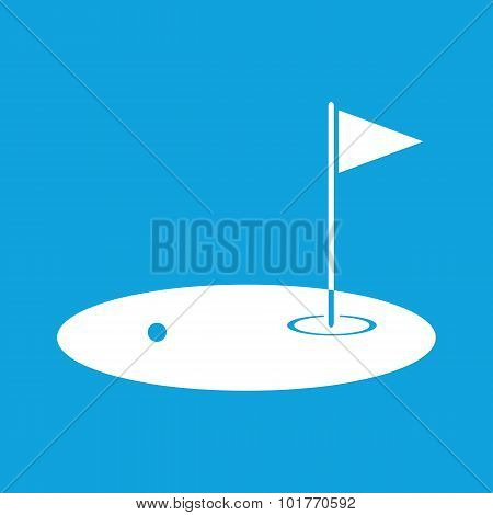 Golf field icon, simple