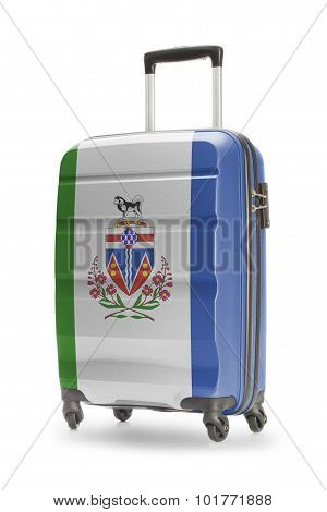 Suitcase With Canadian Territory Or Province Flag Series - Yukon