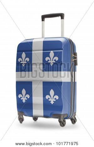 Suitcase With Canadian Territory Or Province Flag Series - Quebec