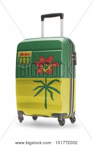 Suitcase With Canadian Territory Or Province Flag Series - Saskatchewan