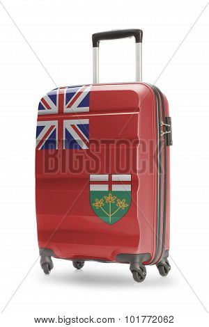 Suitcase With Canadian Territory Or Province Flag Series - Ontario