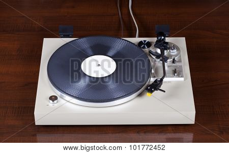 Analog Stereo Turntable Vinyl Record Player
