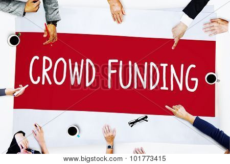 Crowd Funding Contribution Donate Concept