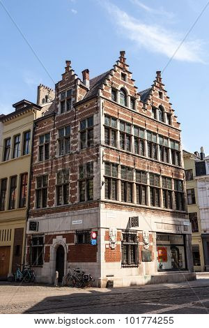 Historic Building In Antwerp, Belgium