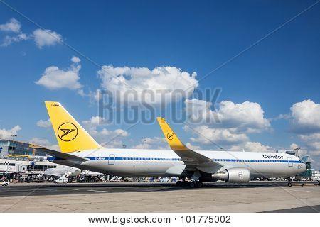 Condor Airline Boeing 767 At The Frankfurt Airport
