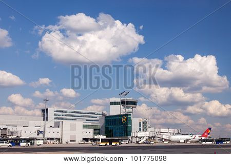 Control Tower At Frankfurt Main Airport