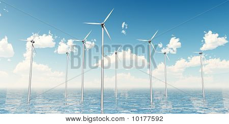 Wind Turbines on the Sea