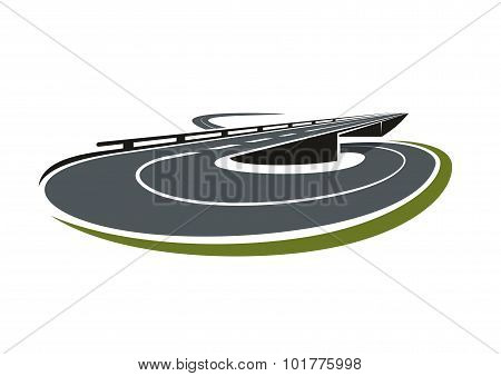 Round road interchange junction icon