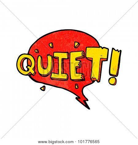 cartoon comic book shout for quiet