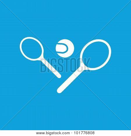 Big tennis icon, simple