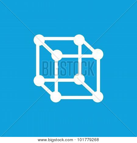 Cubical structure icon, simple