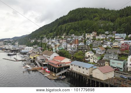 Port Of Ketchikan In Alaska