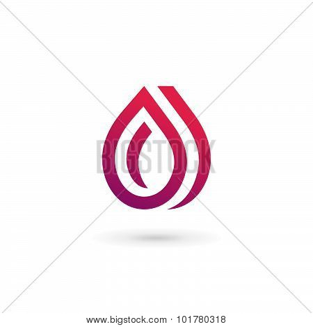 Water Drop Symbol Logo Design Template Icon. May Be Used In Ecological, Medical, Chemical, Food And