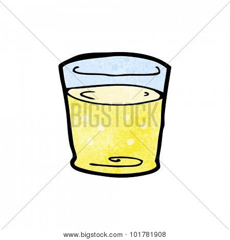 cartoon whiskey glass