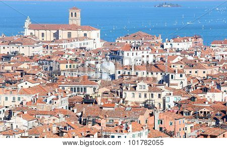 Panorama Of Venice City In Northen Italy