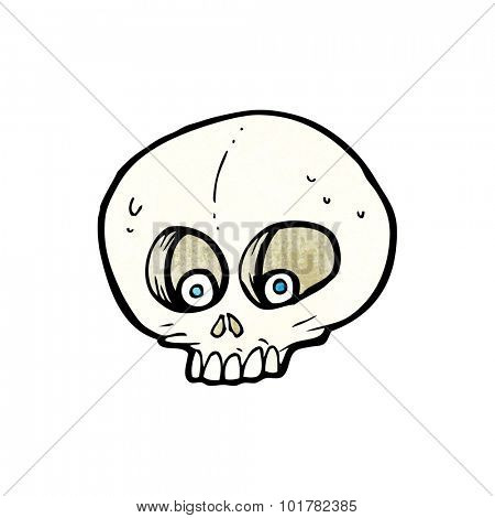 cartoon funny skull