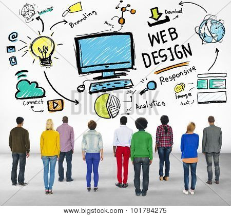 Content Creativity Digital Graphic Layout Webdesign Webpage Concept