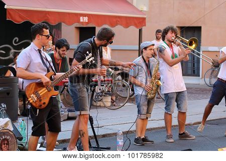 Artists Perform In The Street