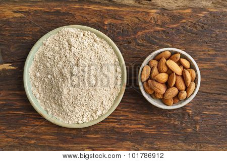 Almond Seeds And Almond Flour