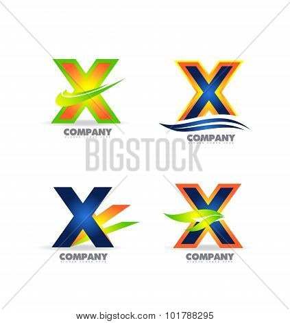 Letter X Logo Icon Set