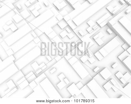 Abstract White Digital 3D Background Texture
