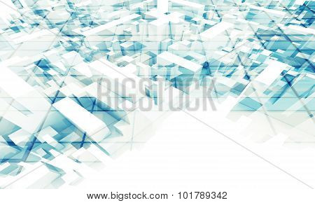 3D Geometric Background With Chaotic Boxes