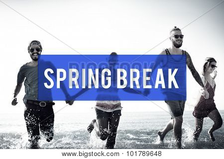 Spring Break Beach Party Teenager Adolescence Leisure Concept